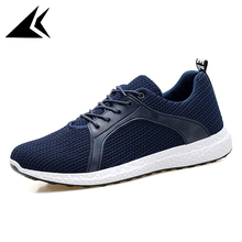 Spring 2017 Outdoor Lawn Lace-up Comfortable Walking Shoes Breathable Mesh Men Running Shoe Free Shipping