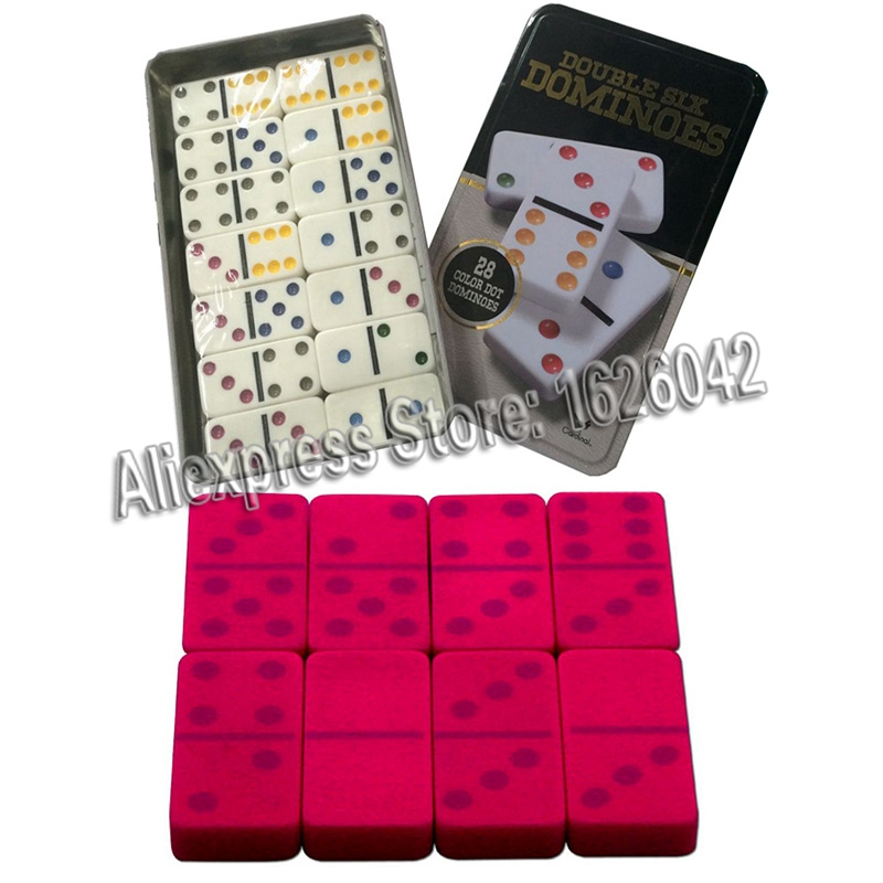 Luminous Invisible Dominoes Marked With UV Ink For Contact Lenses Gamble Cheat Double Six Dominoes