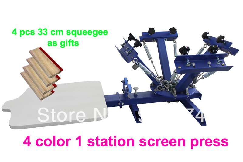 FAST FREE shipping! with GIFTS 4 color 1 station silk screen printing machine t-shirt printer press equipment carousel squeegee new style 468 colors carousel screen printing machine for t shirts