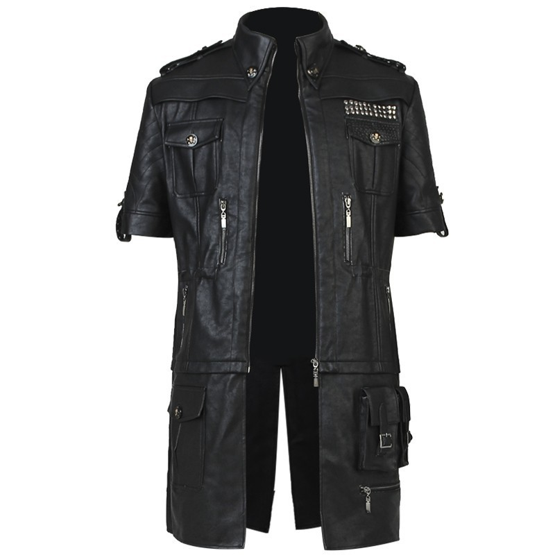 Anime Noctis Lucis Caelum Cosplay Costume Game Final Fantasy XV Jacket Adult Men Halloween Pants Boots Gloves Belt Shirt Only