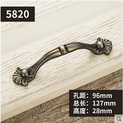 Furniture Knobs European Cabinet Knobs and Handles Simple Kitchen Handles Drawer Pulls Door Bronze Handles YJ5820 furniture drawer handles wardrobe door handle and knobs cabinet kitchen hardware pull gold silver long hole spacing c c 96 224mm