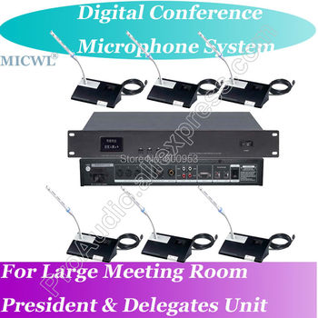 Classic 2 President 18 Delegates Wired Digital Microphone Conference System Host with Teleconference function