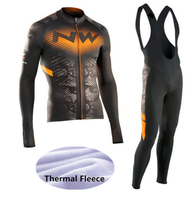 2018 Winter Thermal Fleece NW Cycling Jersey Ropa Ciclismo Mtb Long Sleeve Bike Wear Clothing Maillot