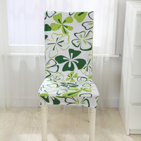 Floral Pattern Chair Cover Removable Elastic Spandex Washable Stretch Dining Hotel Banquet Party Chair Seat Cover Home Decor