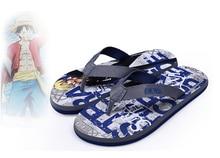 Free Shipping Cartoon Animation One Piece Sanji Summer Style Flip Flops  Women Men 002