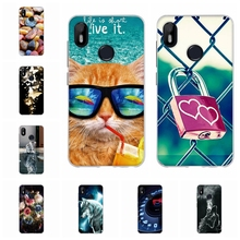 For BQ Aquaris C Protective Case Ultra-slim Soft TPU Silicone Cover Scenery Patterned Coque Bumper