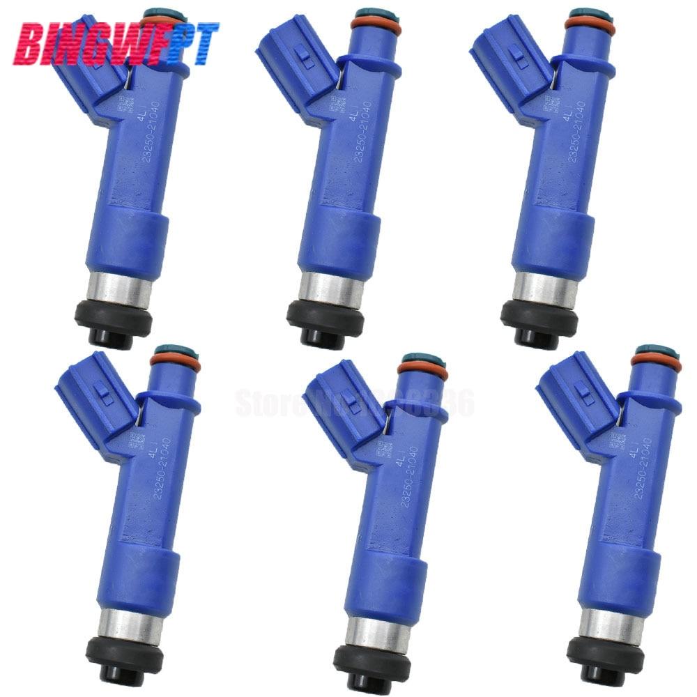 6pcs lot High quality fuel injectors nozzle for Toyota Yaris 2006 2014 1 5L L4 1NZFE