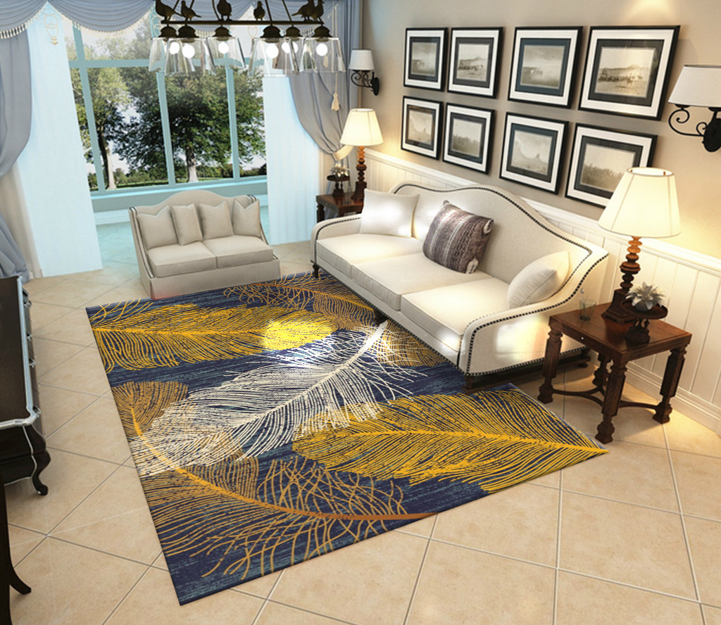 Us 9 52 40 Off Feather Peacock Rug Carpet For Living Room Modern Alfombra Sofa Bedroom Study Parlor Space Rug Nordic Tapete Luxo Floor Rug Big In