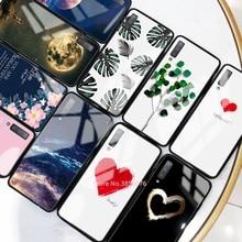 Coque de téléphone en verre trempé Pour Samsung Galaxy A50 A70 A50S A30S A20 S10e S10 S9 S8 Plus A7 2018 Note 10 Pro 10 Plus Couverture De Modèle