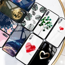 Tempered Glass Phone Case For Samsung Galaxy A50 A70 A50S A30S A20 S10e S10 S9 S8 Plus A7 2018 Note 10 Pro 10 Plus Pattern Cover