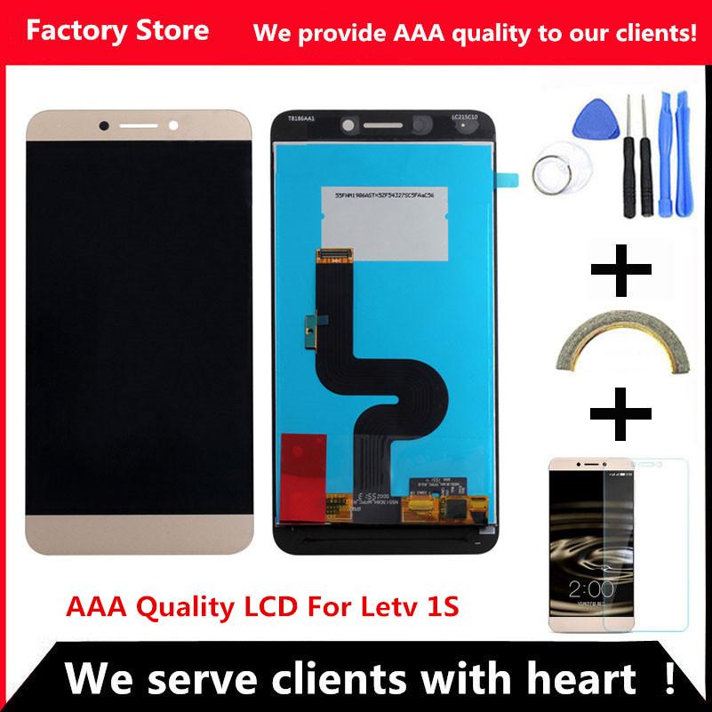 Prix pour QYQYJOY AAA Qualité LCD Pour Letv 1 S Lcd Écran Remplacement Pour Letv 1 S X500 X501 Digiziter Aseembly