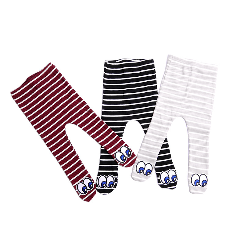 Хлопковые вязаные Штанишки для малышей узкие леггинсы для маленьких девочек пят гибкие теплые детские брюки Демисезонный детей От 0 до 3 лет