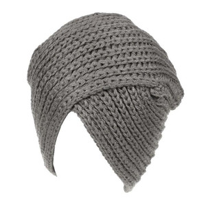Image 5 - Women Bohemian Style Warm Winter Autumn knitted Cap Fashion Boho Soft Hair Accessories Turban Solid Color Muslim hat Whole Sale