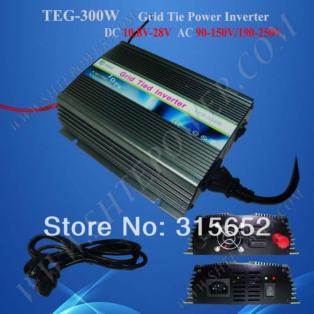 300W Grid Tie Solar Power Inverter DC 10.5V-28V AC 100/110/120/220/230/240v solar power on grid tie mini 300w inverter with mppt funciton dc 10 8 30v input to ac output no extra shipping fee