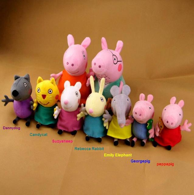 Us 189 0 2014 Peppa Pig Big Family Peppa Pig Friends Danny Dog Candy Cat Suzy Sheep Rebecca Rabit Emily Elephant Free Ship To Austrial In Movies