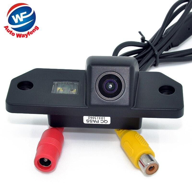 CCD HD grandangolare di Rearview dellautomobile di sostegno della macchina fotografica Per il parcheggio Ford Focus VW universale auto retrovisore inverso Camera