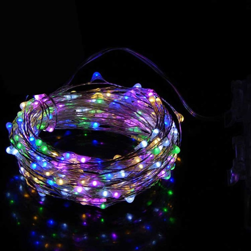 100/200 LED String Light Copper Wire String Holiday ...