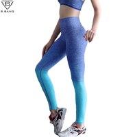 B BANG Women Yoga Pants Running Fitness Sport Elastic Tights High Waist Leggings Training Pants Gym