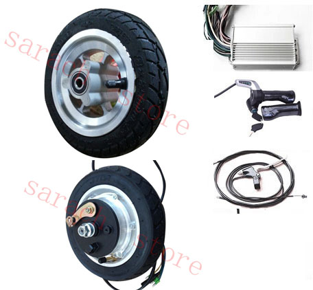 8 400w 24v Drum Brake Electric Scooter Motor Wheel Hub