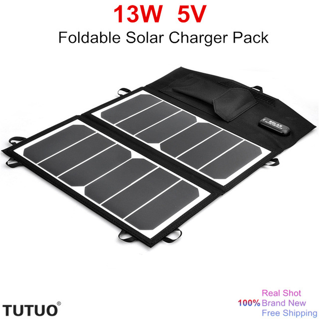 High Efficiency 13W 5V USB Port Output Foldable Solar Charger