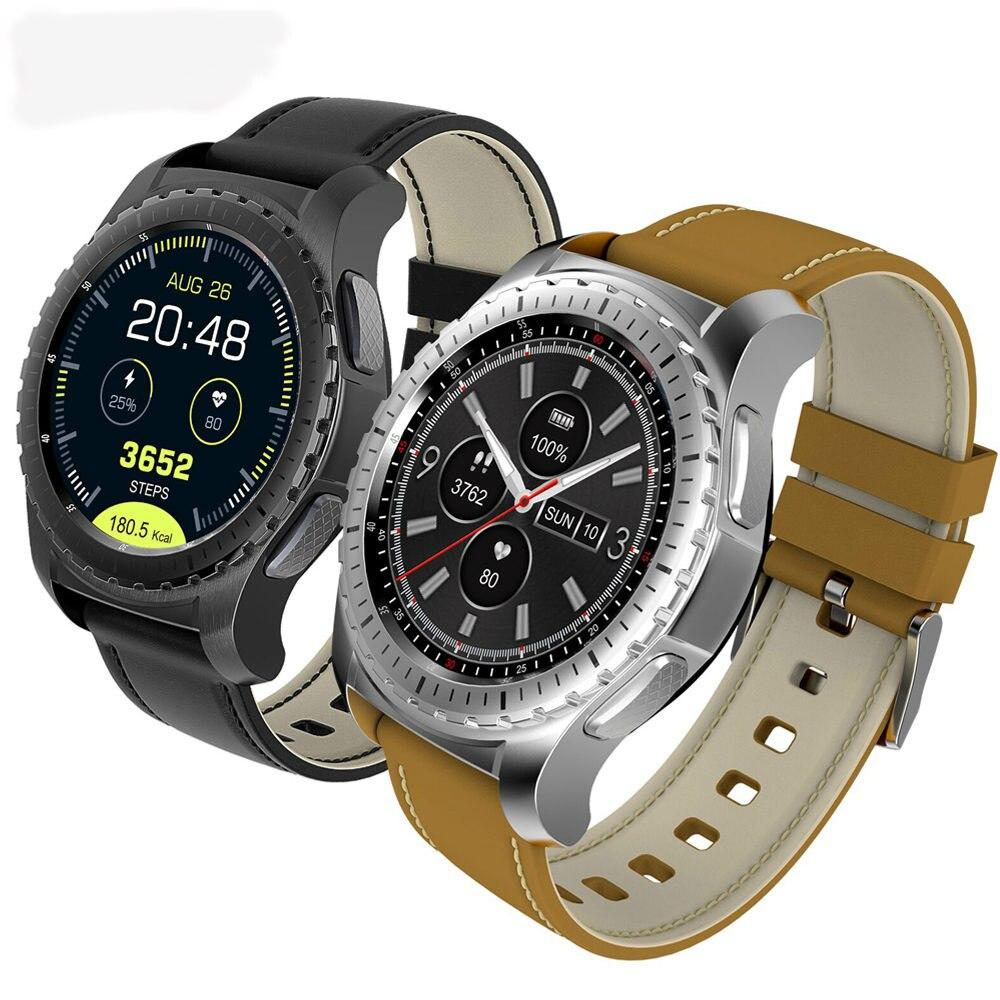 Montre intelligente pour hommes bracelet Sport Bluetooth chronomètre moniteur de fréquence cardiaque Tracker d'activité Android Support carte SIM
