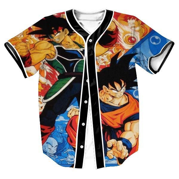 2a0800eb9 New Fashion 3D Print Cartoon Dragon Ball Z Goku Baseball Jersey T Shirt  Design Summer Short Sleeve Button Cardigan Tops Clothing
