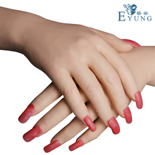EYUNG 2019 female High-simulation silicone gloves cover hand burns and burns on hands. Hand scar occlusion  Prosthetic limb