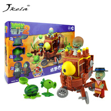 [Jkela] Planten vs Zombie Future World Pirates scène-editie Model bouwstenen Bricks Fit it legendarisch speelgoed voor kinderen Gift
