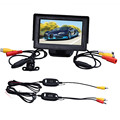 CARPRIE 4.3 Inch TFT LCD Monitor Car Reverse Rearview Back Up Camera Parking Wireless Kits