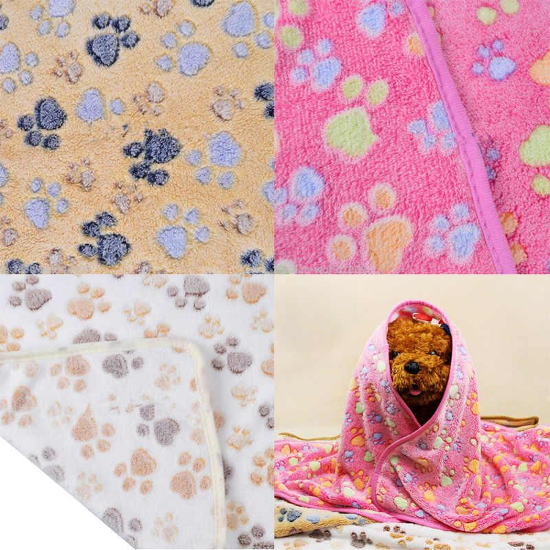 Новое милое мягкое Флисовое одеяло с цветочным рисунком для кошек и собак, постельные матрасы, дышащее одеяло с принтом, подушка для собаки, кошки, щенка, котенка, теплое одеяло