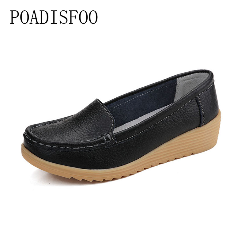 2017 new fashion solid color leather shoess