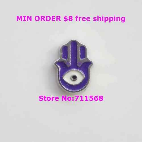 Hamsa Hand Floating Charm Evil Eye Floating Charm Pendants For Floating Glass Locket DIY Accessories