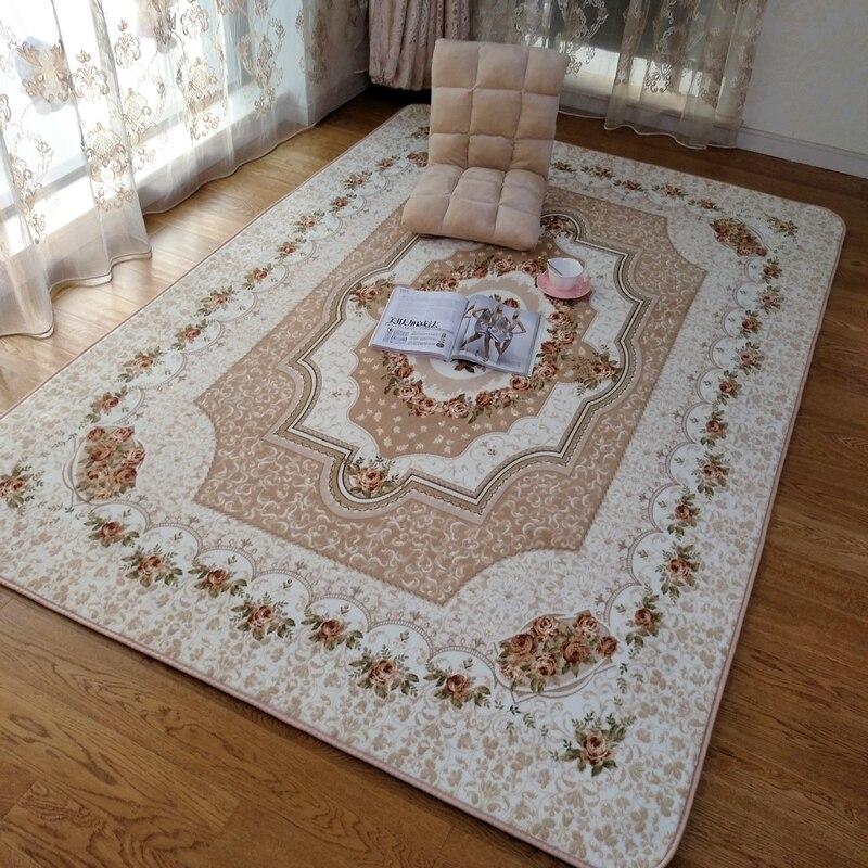 Honlaker 160x230 CM grands tapis roses européens pour salon décoratif Table à thé tapis tapis de sol