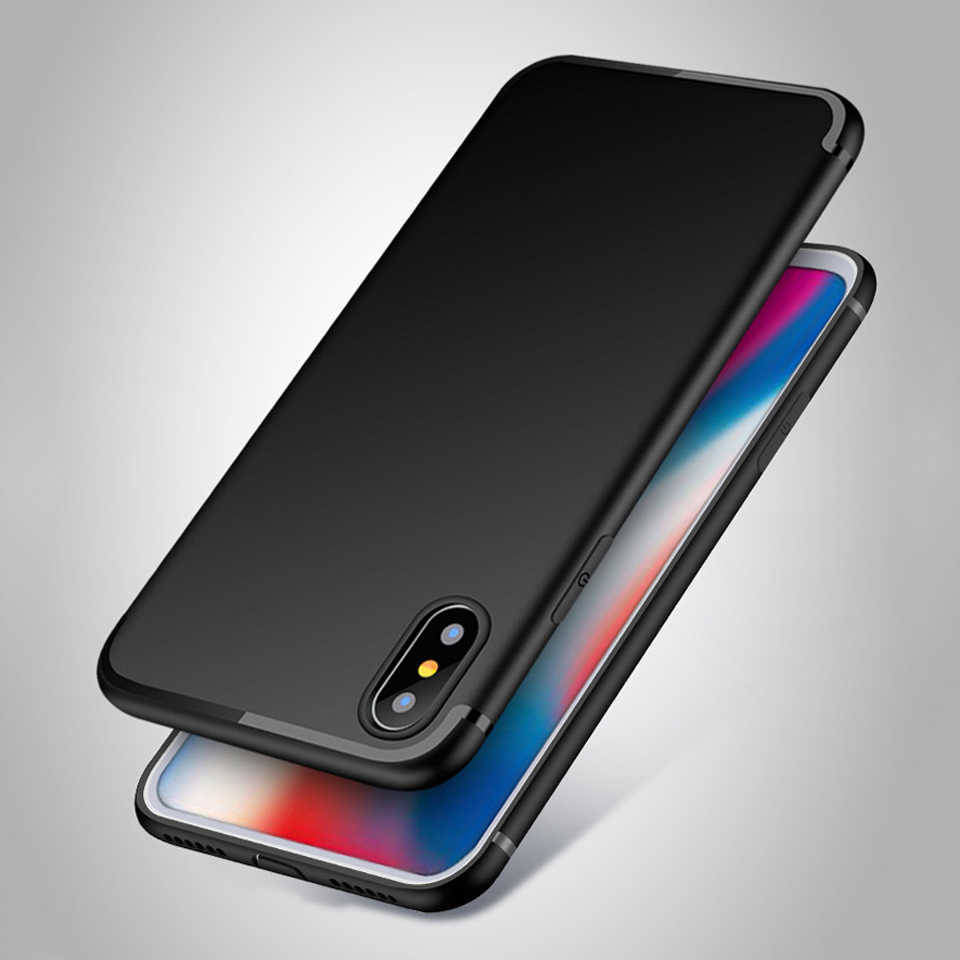 Matte TPU Case For iphone XS MAX X XR SE 5 5s 6 6s 7 8 Plus Cover Silicone Fundas Samsung S9 S8 S7 Edge Galaxy Note 9 Soft Case
