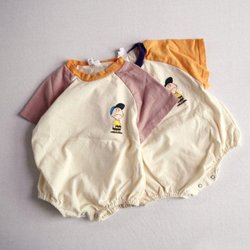 MILANCEL Summer Baby Clothing Cartoon Style Baby Bodysuits Short Sleeve Infant Boys Jumpsuits