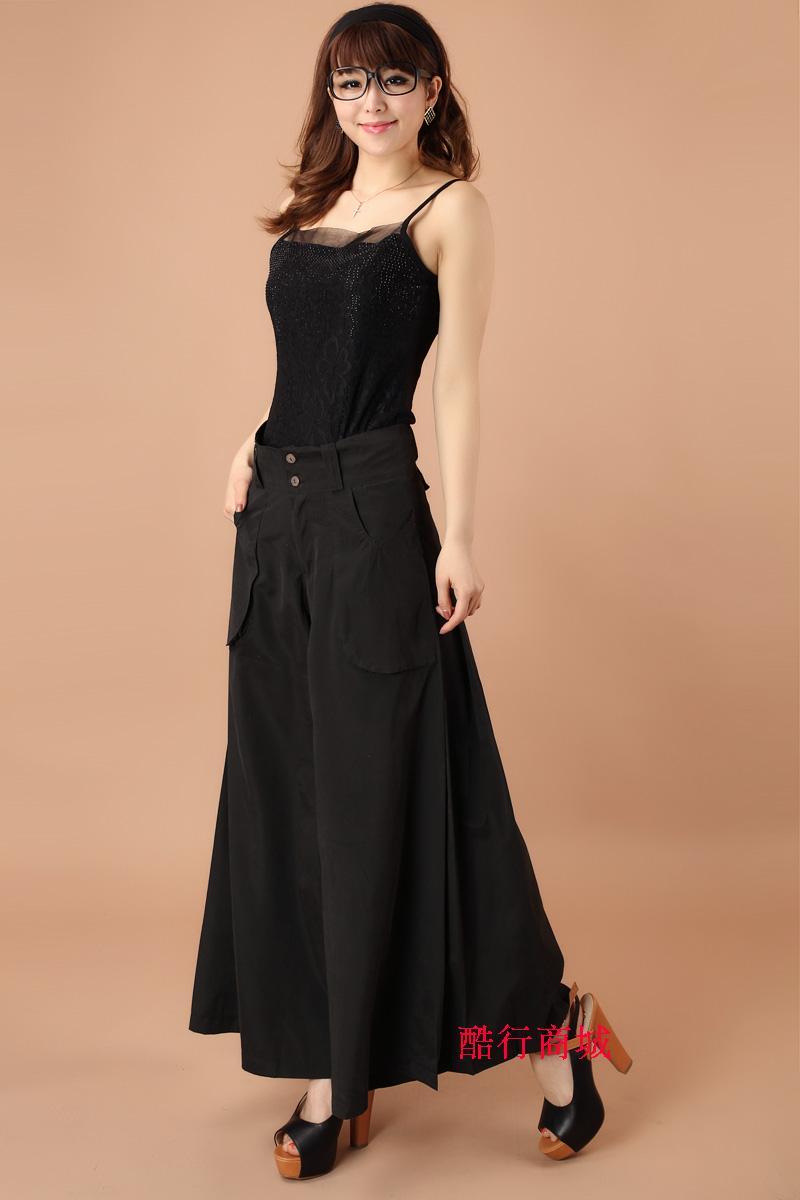Высокая талия широкие брюки размера плюс женские повседневные брюки капри с карманами свободные брюки 4XL