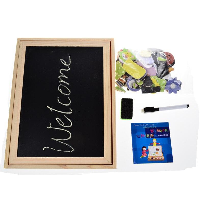 Multifunctional-Wooden-Chalkboard-Animal-Magnetic-Puzzle-Whiteboard-Blackboard-Drawing-Easel-Board-Arts-Toys-for-Children-Kids-4