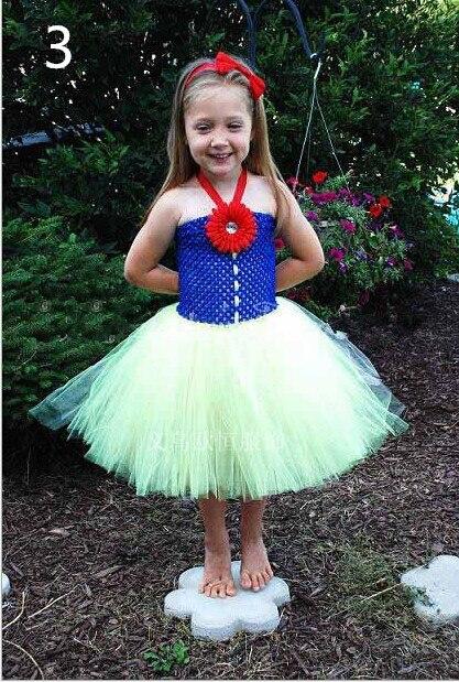 Children clothing Dresses for girls Snow White Christmas dress Handmade custom Patchwork tutu Princess dress vestido