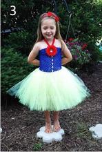 Детская одежда Платья для девочек Белоснежка Рождество платье/Ручной пользовательские Лоскутное пачка платье Принцессы/платье princesa