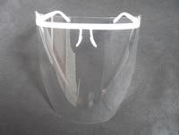 Dental Medical Protective Detachable Full Face Shield 1 White Eyewear Frame And 10 Clear Detachable Visors
