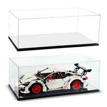 DIY Acrylic Display Case for Lego 42056 for Bugatti Chiron for Porsche 911 GT3 RS Technic Series Blocks ( Model not Included)(China)