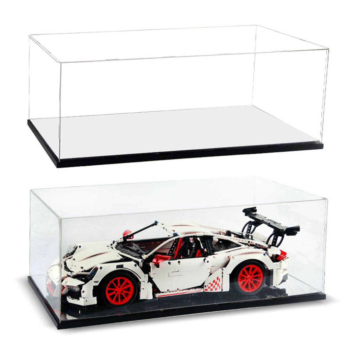 DIY Acrylic Display Case for <font><b>Lego</b></font> <font><b>42056</b></font> for Bugatti Chiron for Porsche 911 GT3 RS <font><b>Technic</b></font> Series Blocks ( Model not Included) image