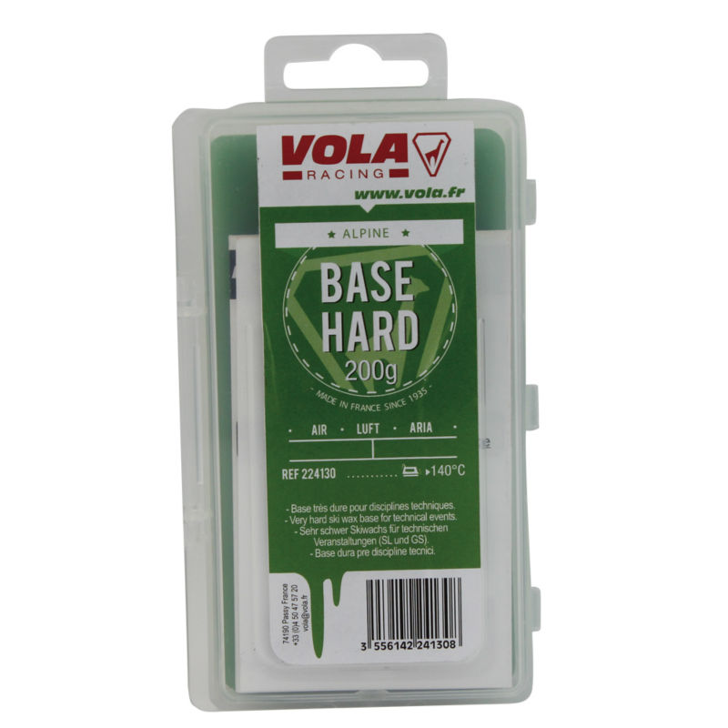 VOLA Hard Base Wax 200g For SL and GS Skis Hardness Wax Protect More Effectively Ski Base Against Abrasion Of The Snow vola ski snowboard training wax 500g red block waxes ideal for ski clubs junior racing training intermediate snow temperature