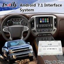 Android 7,1 навигационный интерфейс для Chevrolet Silverado/Suburban Mylink система- Waze/Google maps Многоязычная