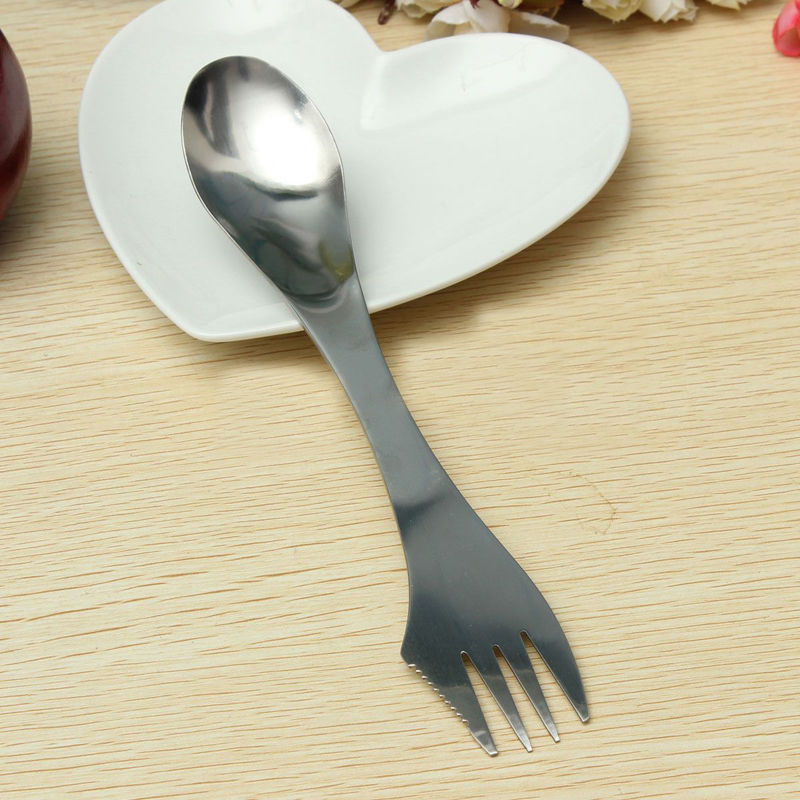 GENUINE UK SELLER 2 x METAL Spork BRAND NEW Picnic Camping Cutlery Lunch Box