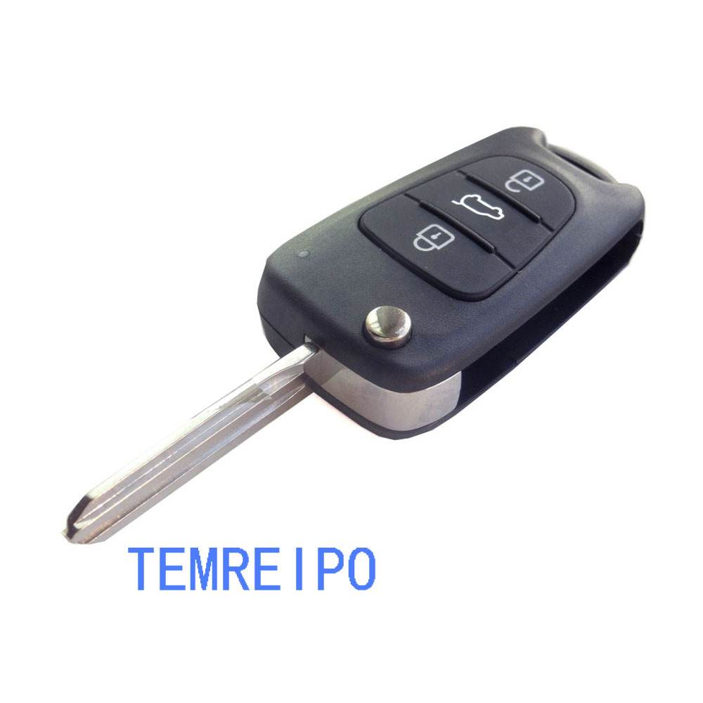 High quality Replace Remote key shell fits for Kia K2 K5 blank Fob key case for car auto parts