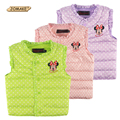 Hot Selling 2-10 Age Children Clothing Antumn/Winter Baby Down Coat Kids Cute Polka Dot Print Princess Vest Waistcoat For Girls
