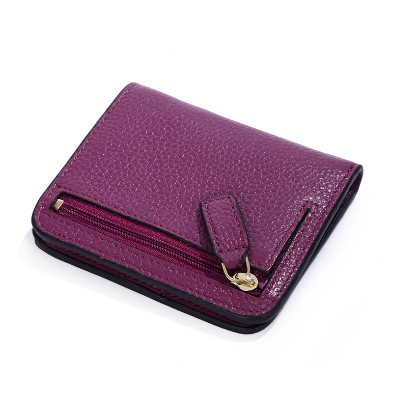 KEVIN YUN Designer Brand Fashion Split Leather Women Wallets Mini Purse Lady Small Leather Wallet with Coin Pocket in Wallets from Luggage Bags