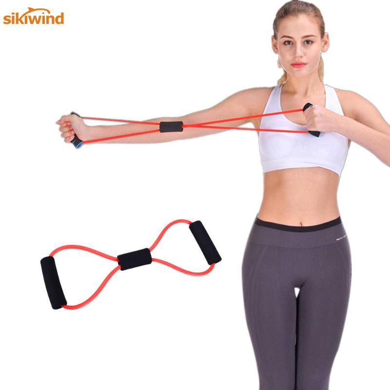 8 Shaped Fitness Elastic Bands Loop Pull Rope Sports Rubber Band Tension Chest Harness Expander Band Yoga Pilates Fitness Belt