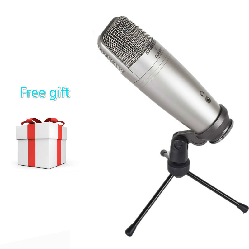 Samson C01u Pro With Pop Filter Usb Studio Condenser Microphone Real-time Monitoring Large Diaphragm Condenser Microphone